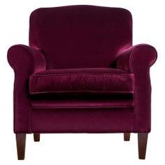 Finney Armchair in Burgundy Velvet