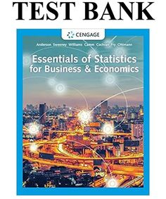 This is the complete Essentials of Statistics for Business & Economics Edition Test Bank By Anderson . Business And Economics, Good Grades, Statistics, Manual, Essentials, This Or That Questions, Banks, Textbook, Couches