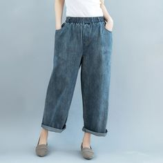 loose fit jeans for women denim pants for women over 40 Denim Pants, Trousers, Loose Fit Jeans, Cotton Style, Fashion Pants, Mom Jeans, How To Look Better, Thighs, Pants For Women