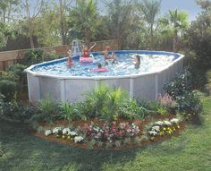 Above Ground Pool Landscaping Outside Pretties Pinterest