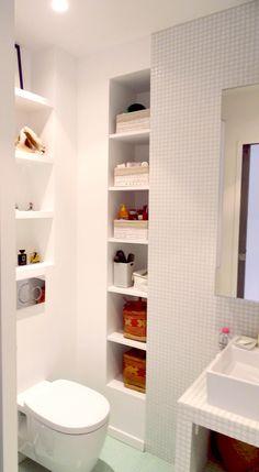optimisation d'une petite salle de bain dans un projet parisien-architecture interieure by Karine Perez