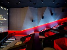 Multiplex Atmocphere cinema by Sergey Makhno on Interior Design Served Home Theater Lighting, Home Theater Room Design, Home Theater Decor, Home Theater Rooms, Home Theater Seating, Cinema Room, Cinema Theatre, Auditorium Architecture, Theater Architecture