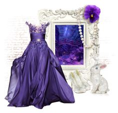 """""""From the Fairy Forest"""" by auntmidnight ❤ liked on Polyvore featuring Judith Leiber and Zuhair Murad"""