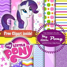 Hey, I found this really awesome Etsy listing at https://www.etsy.com/listing/205844660/my-little-pony-digital-paper-pony