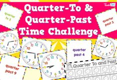 Quarter to and Quarter past challenge :: Teacher Resources and Classroom Games Classroom Games, Math Games, Teacher Resources, Teaching Ideas, Units Of Measurement, Past, Knowledge, Language, Challenges