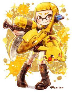 Splatoon mixed with Pokémon ... AWESOME!!!!!
