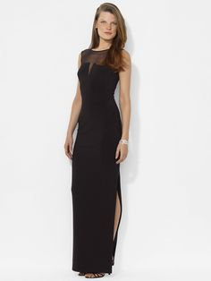 Ralph Lauren- Sleeveless Jersey Gown - Evening Dresses