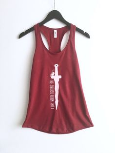 721334b12065 A Girl Worth Fighting For - Racerback Tank by Carousel Tees. Mulan