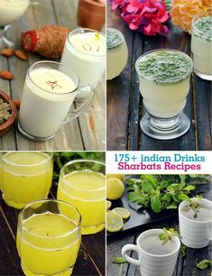 Indian Drinks | Sharbat Recipes | Indian summer Drinks Indian Recipes In Hindi, Gujarati Recipes, Indian Food Recipes, Refreshing Drinks, Summer Drinks, Cold Drinks, Non Alcoholic Drinks, Cocktails, Honey Lemon Water