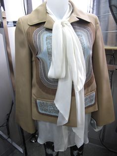Beige '70s print blazer by Miu Miu  Only $199.99!! SOLD