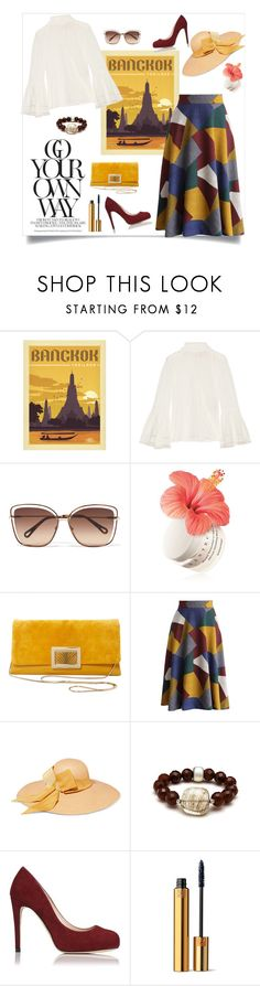 """Bankok"" by isidora ❤ liked on Polyvore featuring Fendi, Chloé, Chantecaille, Roger Vivier, Chicwish, Sensi Studio, L.K.Bennett, Yves Saint Laurent, Thailand and bangkok"