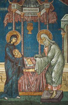 Simeon, the God-bearer - Visoki Dečani Monastery, Byzantine Icons, Byzantine Art, Religious Icons, Religious Art, Medieval Art, Renaissance Art, Jesus In The Temple, Christian Artwork, Best Icons