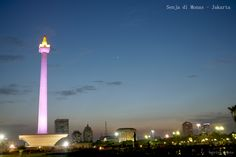 Monument at dusk, on the first day of the fasting month of 2013
