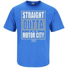 Detroit Lions Fans. Straight Outta The Motor City. T-Shirt