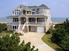 This is a beach house in the Outer Banks, in North Carolina. I've visited here before, and this house may or may not be the one we stayed in. It looks very similar.
