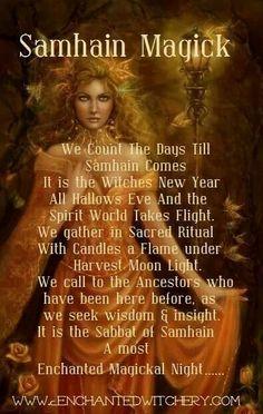 Samhain halloween all hallows eve blessings
