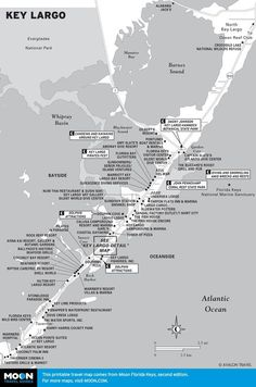 Week Florida Keys Road Trip Itinerary Map of Key Largo, FloridaMap of Key Largo, Florida Florida City, Key West Florida, Florida Vacation, Florida Travel, Vacation Spots, Travel Usa, Map Of Florida Keys, Travel Tips, Florida Trips