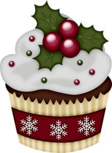 Cupcake Clipart, Cupcake Art, Paper Cupcake, Christmas Graphics, Christmas Clipart, Christmas Printables, Christmas Wood, Christmas Pictures, Christmas Colors