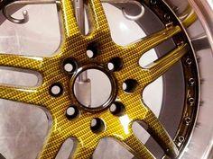 Yellow Carbon Fiber Rim