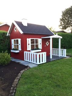 Tudor Cottage, Outdoor Play Areas, Backyard Cottage, Backyard Playhouse, Tiny House Cabin, Small Places, Exterior House Colors, Little Houses, Play Houses