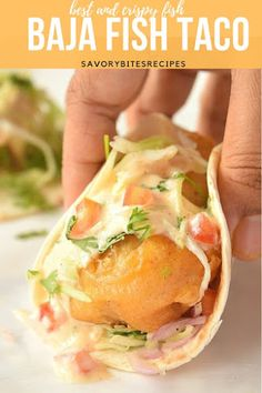 Best ever restaurant style Fish Taco-Baja Fish Taco! Baja Fish Taco recipe- delicious recipe to try when you want Mexican food. Best ever restaurant style Fish Taco-Baja Fish Taco! Baja Fish Taco recipe- delicious recipe to try when you want Mexican food. Baja Fish Tacos Sauce, Mexican Fish Tacos, Baja Fish Taco Recipe, Fish Tacos With Cabbage, Fried Fish Tacos, Cabbage Slaw, Pickled Cabbage, Baja Sauce, Gastronomia