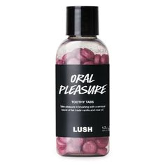 Oral Pleasure Toothy Tabs: Bring some delight to your toothbrushing routine with the sweet and tart flavor of passion fruit, and experience a unique tingle on your tongue thanks to a tincture of electric daisies. Teeth Care, Skin Care, Lush Products, Beauty Products, Glow Up Tips, Lush Cosmetics, Lush Bath, Cream Eyeshadow, Gifts