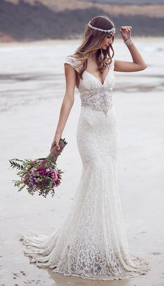Cap Sleeve Mermaid Wedding dress Mermaid Bridal Lace Gown Wedding Gown Custom Wedding Dresses US Size 0 2 4 6 8 10 12 14++