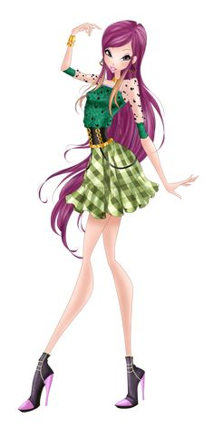 Roxy Checkered Chic by HimoMangaArtist on DeviantArt - cecilia Les Winx, Bloom Winx Club, The Last Unicorn, Animated Icons, Fairy Clothes, Famous Books, Flapper Style, Club Outfits, Roxy