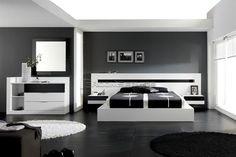 #Modern #bedroom #white+gray