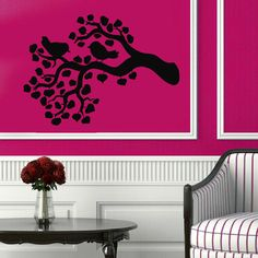 Lovely Birds Wall Decals Birds On Tree by WallDecalswithLove