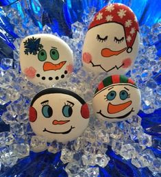 Snowmen Stone/Rocks Art