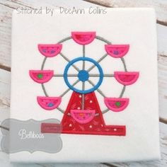 Ferris Wheel Applique - 4 Sizes!   What's New   Machine Embroidery Designs   SWAKembroidery.com Belliboos
