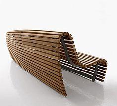 Bench Titikaka -B&B Italia Outdoor - Design of Naoto Fukasawa Outdoor Furniture Bench, Iron Furniture, Street Furniture, Furniture Design, Timber Furniture, Industrial Furniture, Industrial Design, Outdoor Seating, Outdoor Chairs