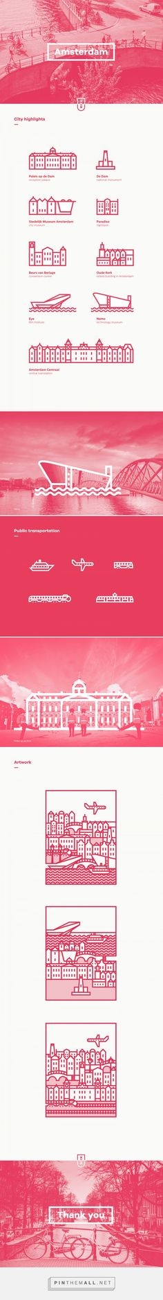 Icons of Amsterdam on Behance - created via http://pinthemall.net