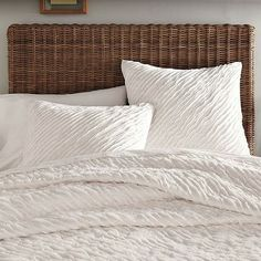 Frayed-Edge Quilt - modern - quilts - West Elm
