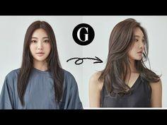 [그라피TV] {ENG SUB} Lightly cut long hair Asian hairstyle Korean woman's long layered haircut - Modern Asian Hairstyles Women, Layered Haircuts For Women, Haircuts Straight Hair, Haircuts For Medium Hair, Medium Hair Cuts, Long Hair Cuts, Hairstyles Haircuts, Medium Hair Styles, Japanese Hairstyles