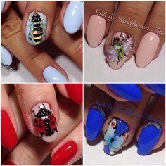 0 Дизайн ногтей Бабочки, жучки, паучки | 122 фотографии