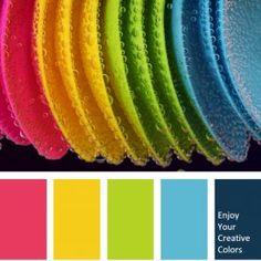 Color Palette - Million Shade Color Schemes Colour Palettes, Bright Color Schemes, Colour Pallette, Color Palate, Color Combos, Bright Colour Palette, Palette Pantone, Creative Colour, Colour Board