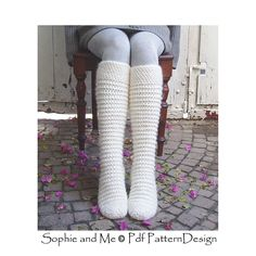 North Pole Socks for freezzzing feet! Crochet, NOT knit!