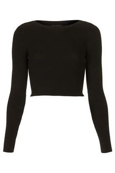 Knitted Rib Crop Top - Tops - Clothing