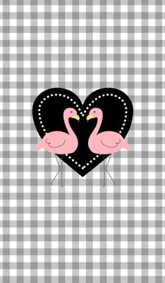 The flamingo pattern about which I'm happily. There is also a heart. Fashionable!