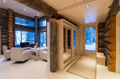 Log Homes, Decoration, Villas, Curtains, Lighting, Gallery, House, Home Decor, Sweet