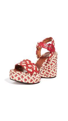 c44c703f6045 Arizona Wedge Sandals. Robert Clergerie Arizona Wedge Sandals
