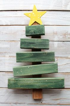Christmas tree from scrap wood More