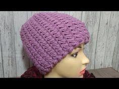 Шапка спицами укороченными рядами.Самый простой метод. // Светлана Белокурова Crochet Beanie, Crochet Baby, Mittens, Hand Knitting, Crochet Patterns, Youtube, Farmhouse Rugs, Fabric Samples, Knits