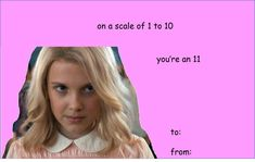 Stranger Things valentines - Eleven