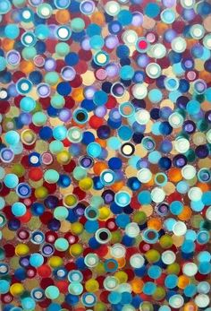 Dots Abstract Acrylic Painting on BIG by HeatherMontgomeryArt, $175.00