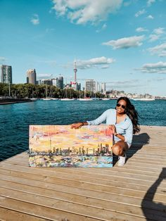 Toronto and London painting was a custom piece. Interested a custom painting, inquire on my website! ✌🏽 Toronto Skyline, London Skyline, Can You Feel It, How Are You Feeling, London Painting, Custom Bookmarks, Painting Prints, Art Prints, Ganesha Art