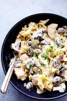 Instant Pot Chicken and Mushroom Stroganoff Ingredients 4 boneless skinless chicken breasts, cubed 8 ounce sliced mushrooms 1 8 ounce cream cheese, softened 1 (10½) ounce cream of chicken soup 1 envelope (1¼ ounce) dry onion soup mix salt and pepper to taste fresh parsley, chopped for garnish 1 pound large egg noodles for serving …