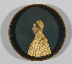 Wax Portrait Medallion in a Leather Box: Portrait of the Duchess of Savoy. French, second half of 16th century. Leather and wax. Courtesy of RMN (Musée de la Renaissance, Château d'Ecouen). Photo by Gérard Blot.